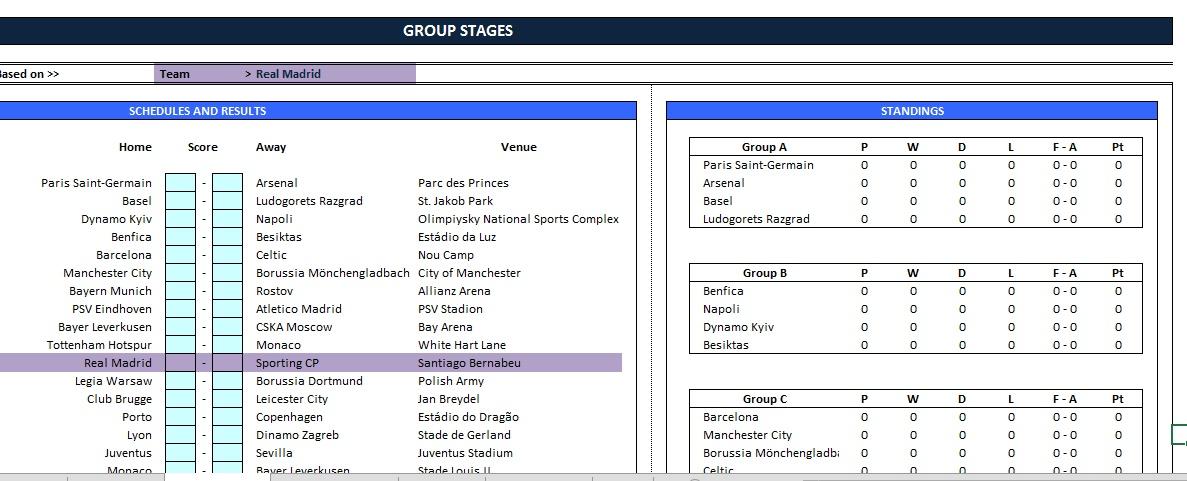 Aplikasi Liga Champions Excel Jadwal Motogp Terlengkap