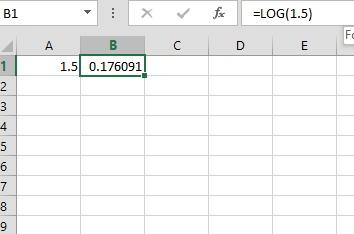 Logaritma dengan Excel