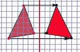 Gambar contoh transformasi refleksi 1