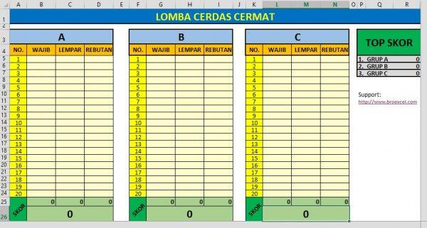 Aplikasi Cerdas Cermat Microsoft Excel