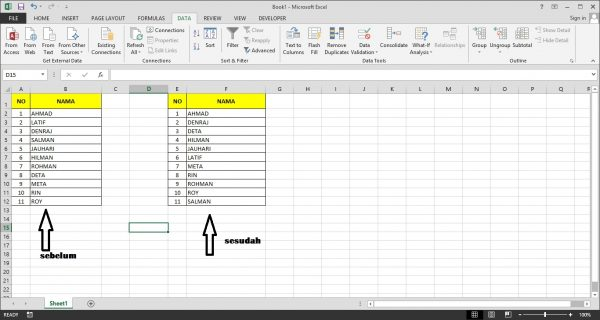 Tutorial Microsoft Excel - Cara Sort Data A-Z