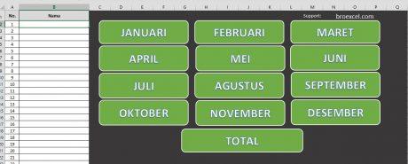 Aplikasi Excel Buku Tabungan Otomatis - Isi data Main Index