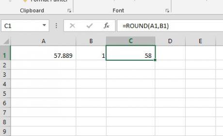 Rumus Pembulatan Excel