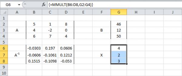 mmult formula