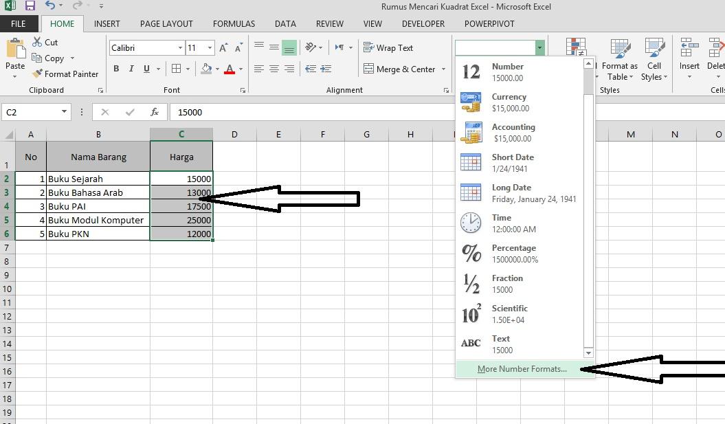 Cara Menambahkan Symbol Rp dan IDR ke dalam Sel di Excel